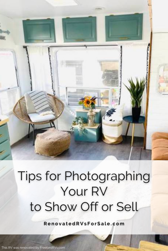 Show off your RV renovation just like an Instagram influencer with these photography tips. #RVlife #RVrenovation #RVremodeling #FullTimeRV